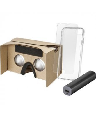 INSIGNIA ACCESSORY BUNDLE VR VIEWER,2600MAH POWERBANK. CLEAR CASE,AND TEMPERED GLASS