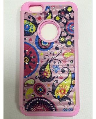 iPhone 6 Plus PRINTING DIAMOND CASE light pink pink