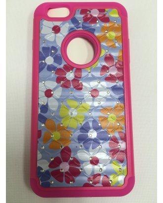 iPhone SE PRINTING DIAMOND CASE pink hot pink