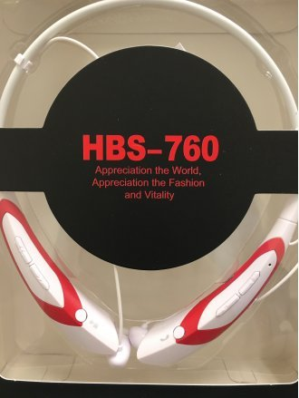Blutooth HEAD PHONE NECK vAcc HBS760 White+Red