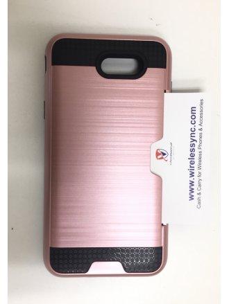J7 2017 prime Mobile Phone Case-ROSE GOLD Credit Card