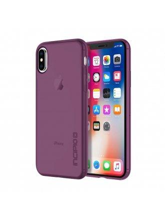 Incipio iPhone X NGP Pure Clear Flexible Impact Resistant Case Plum