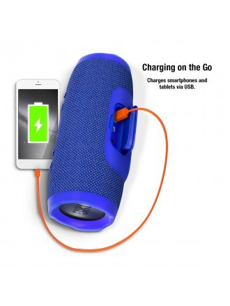JBL Charge 3 Waterproof Portable Bluetooth Speaker - Blue