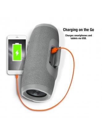 JBL Charge 3 Waterproof Portable Bluetooth Speaker - Grey