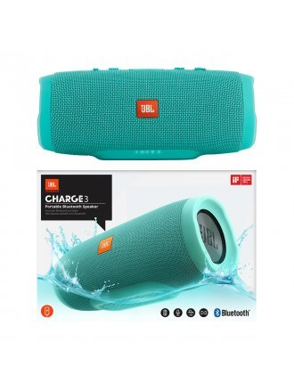 JBL Charge 3 Waterproof Portable Bluetooth Speaker - Teal