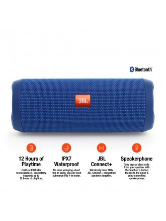 JBL FLIP4 Waterproof Portable Bluetooth Speaker - Blue