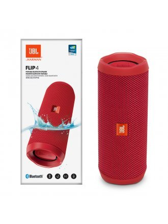 JBL FLIP4 Waterproof Portable Bluetooth Speaker - Red