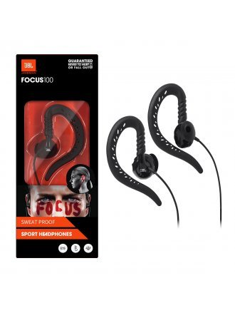 JBL Focus 100 Behind-The-Ear Wired Sport Headphones - Black