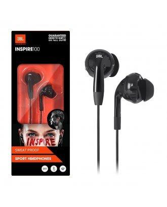 JBL Inspire 100 In-Ear Wired Sport Headphones - Black