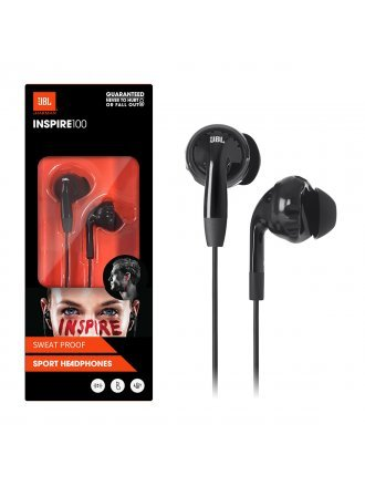 JBL Inspire 100 In-Ear Wired Sport Headphones - Black