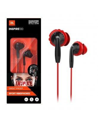 JBL Inspire 100 In-Ear Wired Sport Headphones - Red/Black