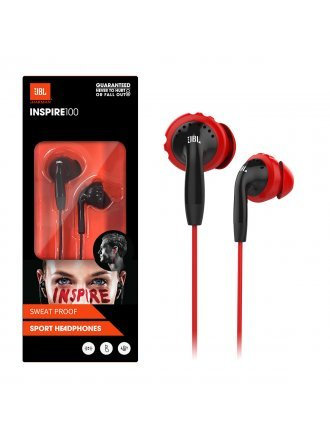 JBL Inspire 100 In-Ear Wired Sport Headphones - Red/Black