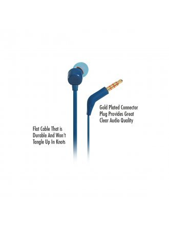 JBL T110 In-ear Wired Headphones with Mic - Blue