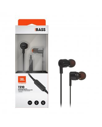 JBL T210 In-ear Wired Headphones with Mic - Black