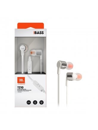 JBL T210 In-ear Wired Headphones with Mic - Grey
