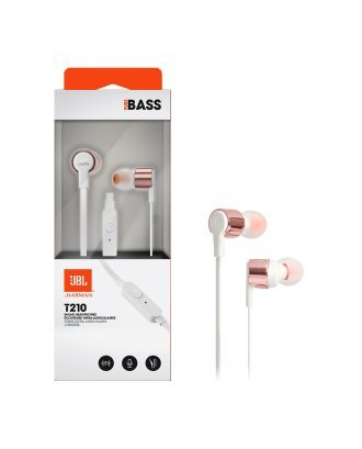 JBL T210 In-ear Wired Headphones with Mic - Rose Gold