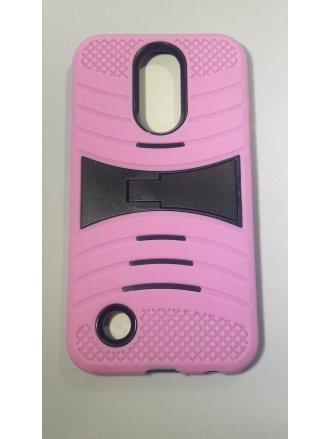 MOTO E4(USA) Kickstand Case  Black Pink