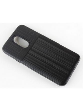LG K40 Combo Case Brushed Metal Finish Black Black