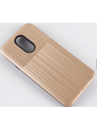 LG K40 Combo Case Brushed Metal Finish Gold Black
