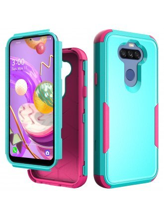 Samsung Galaxy A21 Commander Case Teal Hot Pink