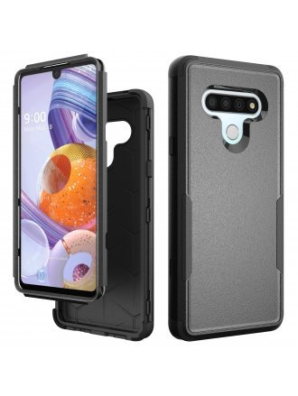Lg Stylo 6 Commander Case Black Black