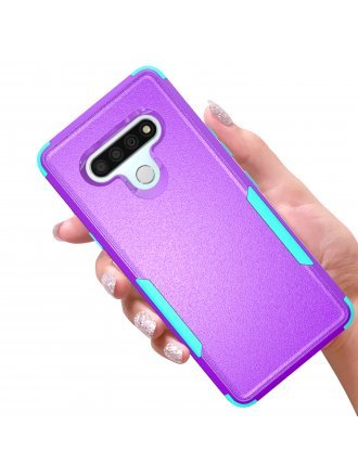 Lg Stylo 6 Commander Case Purple Teal