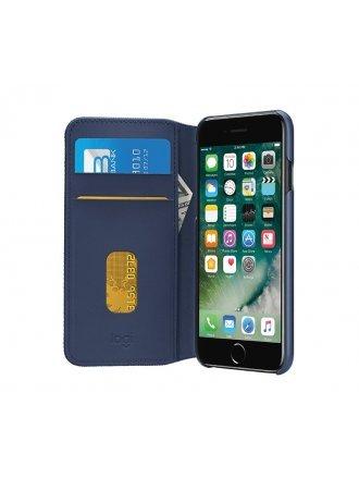 LOGITECH HINGE IPHONE 7 PLUS FLEXABLE WALLET CASE BLUE