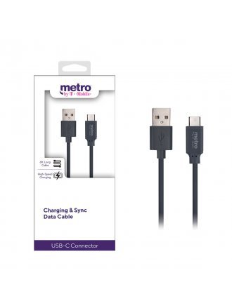 Metro by T-Mobile USB-A to USB-C Charging & Sync Data Cable