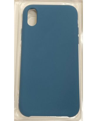 """Apple iPhone XR 6.1"""" Silicon Case Cover #Dark Turquoise"""