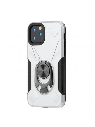 Apple iPhone 11 5.8 Ring Case Silver Black
