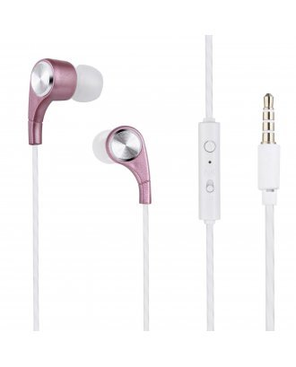 SOUNDZ STEREO EARPHONES WITH REMOTE AND MIC PINK