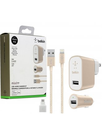 Belkin MixiT USB Car & Home Charger Kit with 4 FT Cable Samsung Android