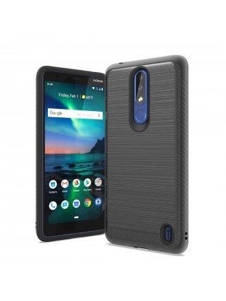 Alcatel 3V Brushed Texture Case Cover Black