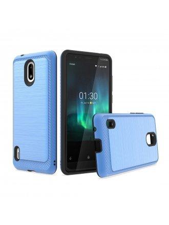Alcatel 3V Brushed Texture Case Cover Blue