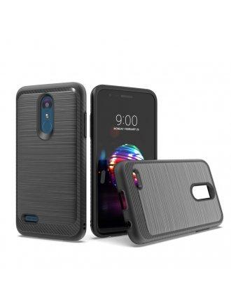 LG K10 2018/ K30/ Premier Pro LTE/ Harmony 2/ Phoenix Plus - New Brushed Metal Case Black