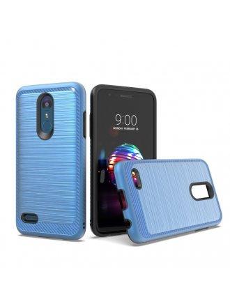 LG K10 2018/ K30/ Premier Pro LTE/ Harmony 2/ Phoenix Plus - New Brushed Metal Case BLUE BLACK
