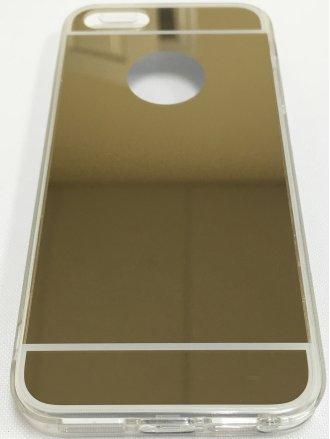 iPhone 5/5S/SE TPU MIRROR CASE gold clear