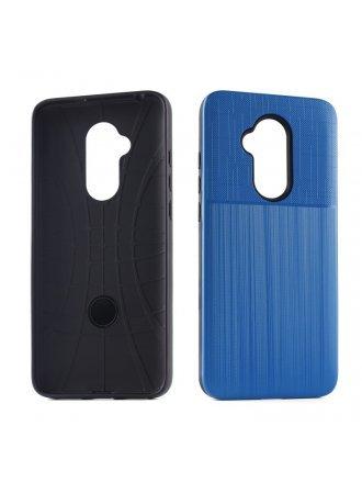 Aristo 4 Plus Cover Plus Combo Case Brushed Metal Finish Blue Black