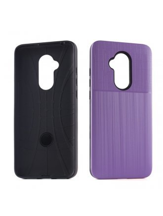 Aristo 4 Plus Cover Plus Combo Case Brushed Metal Finish Purple Black