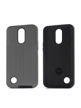 Aristo 4 Plus Cover Plus Combo Case Brushed Metal Finish Grey Black