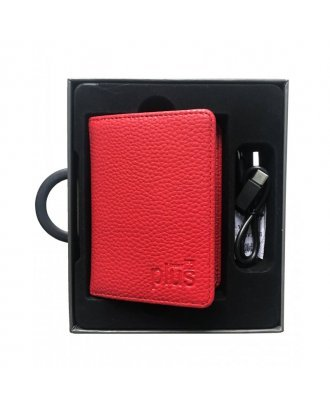 Power Bank with Small Wallet Red