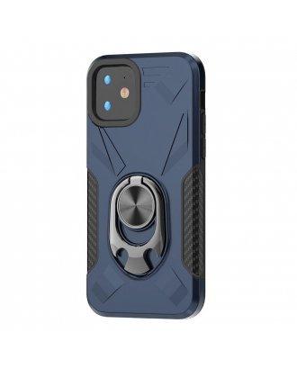 Samsung Galaxy A10E Kickstand Ring Case Blue Black