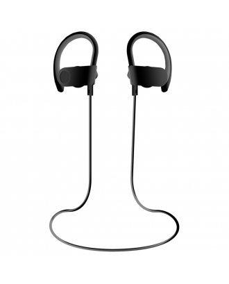 WOOZIK WIRELESS SPORT WITH ADJUSTABLE HANGERS 6.00 EARPHONES-BLACK