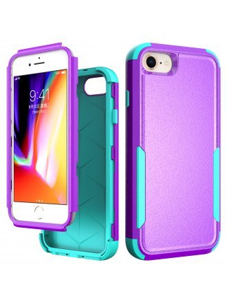 Apple iPhone 6 / 7 / 8 / SE2 / SE 2020 Commander Case Purple Teal