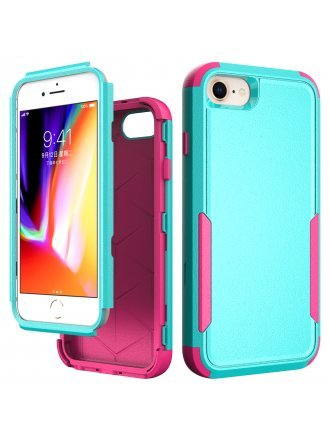 Apple iPhone 6 / 7 / 8 / SE2 / SE 2020 Commander Case Teal Hot Pink
