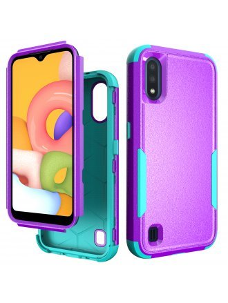 Samsung Galaxy A01 Commander Case Purple Teal