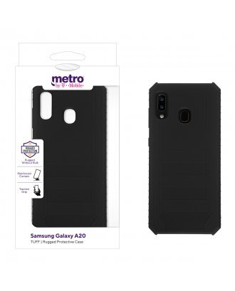Metro by T-Mobile Samsung Galaxy A20 TUFF Rugged Protective Case – Black