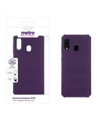 Metro by T-Mobile Samsung Galaxy A20 TUFF Rugged Protective Case – Purple