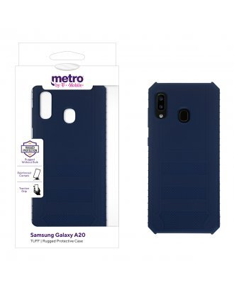 Metro by T-Mobile Samsung Galaxy A20 TUFF Rugged Protective Case – Blue