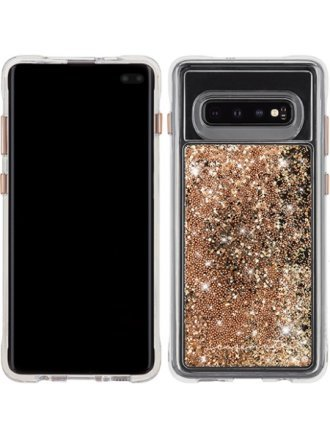 Case-Mate - Waterfall Case for Samsung Galaxy S10 Plus - Gold